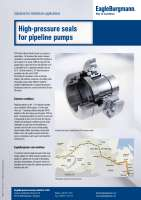 Solution: High-pressure seals for ESPO pipeline pumps
